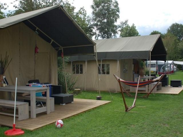 Glamping in een safaritent op camping De Luttenberg